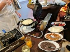 Waffle station and toppings