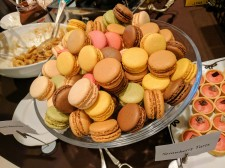 Parisian macarons in a medley of flavors